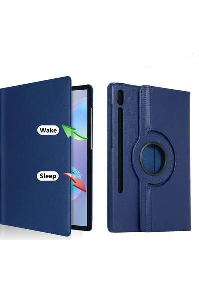Happyshop Samsung Galaxy Tab S7 Plus SM-T970 Kılıf Dönerli Standlı Suni Deri Kapaklı Kılıf Mor