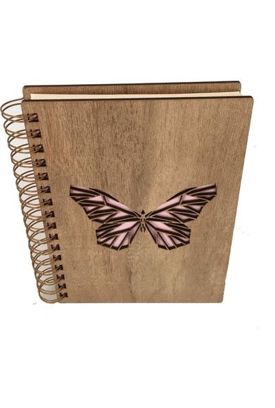 Good Time Mdf Lazer Kesim Spiralli Animal Butterfly Defter