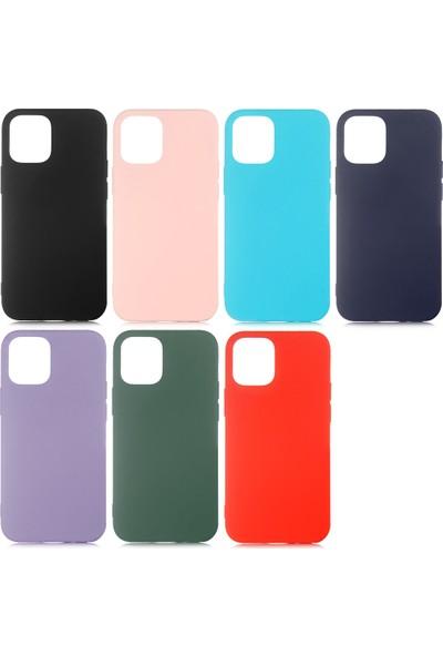 Happyshop Apple iPhone 12 Kılıf Içi Süet Lansman Lsr Silikon + Nano Cam Ekran Koruyucu Siyah