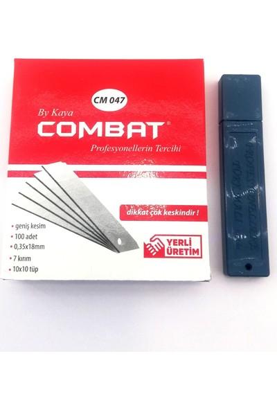 Combat Eko Maket Bıçağı Yedeği 18 mm Geniş 100'LÜ