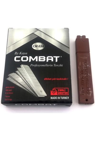 Combat Lüx Maket Bıçağı Yedeği 18 mm Geniş 100'LÜ