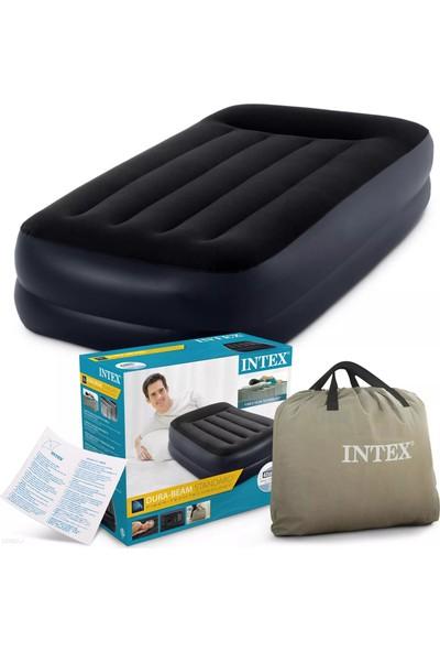 Intex Çift Kişilik Şişme Ev ve Kamp Yatağı Kendinden Otomatik Pompalı 64122NP Twin Pillow