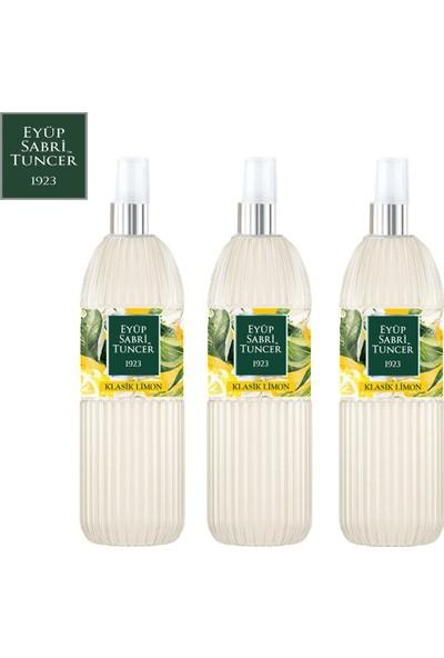 Eyüp Sabri Tuncer Limon Kolonyası | 150 ml Sprey ( Pvc Şişe - 80 Derece ) x 3 Adet