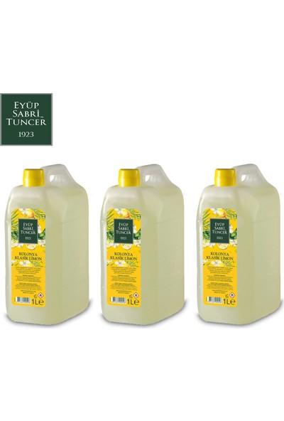 Eyüp Sabri Tuncer Limon Kolonyası | 1 Litre ( Pvc Şişe - 80 Derece ) x 3 Adet