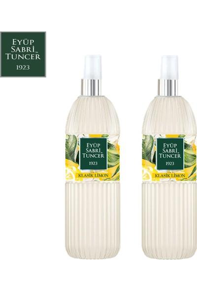 Eyüp Sabri Tuncer Limon Kolonyası | 150 ml Sprey ( Pvc Şişe - 80 Derece ) x 2 Adet