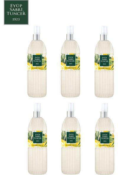 Eyüp Sabri Tuncer Limon Kolonyası | 150 ml Sprey ( Pvc Şişe - 80 Derece ) x 6 Adet