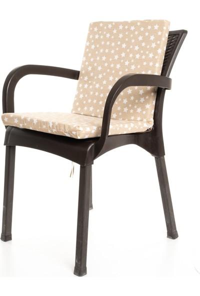Mertim Yıldız Desenli Sandalye Minderi