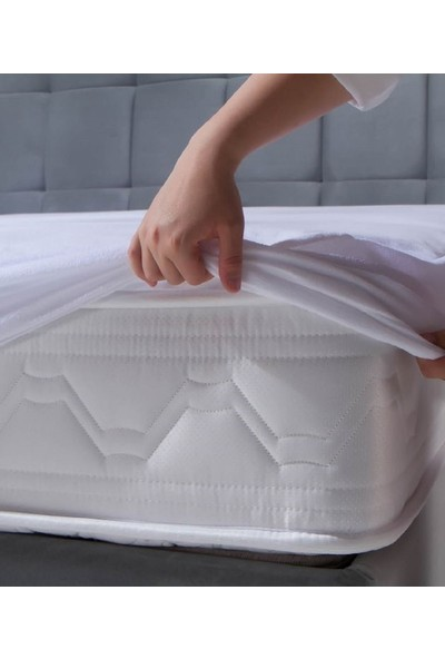New Home Trends Yusra Ticaret:newhome Çift Kişilik 180X200CM Premium Fitted Sıvı Geçirmez Alez