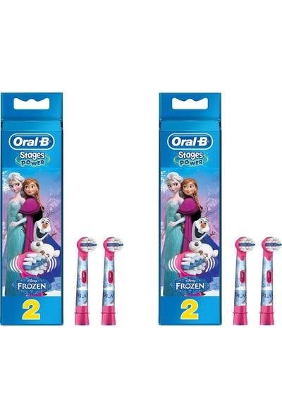 Oral-B Frozen Çocuklar Için 4'lü Diş Fırçası Yedek Başlığı
