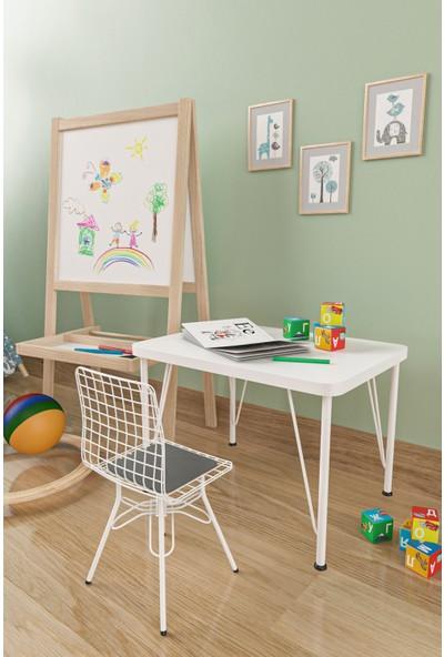 Evdemo Çocuk Masa Sandalye Takımı Gri