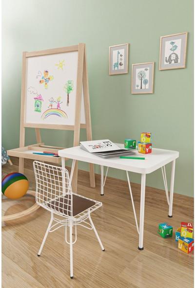 Evdemo Çocuk Masa Sandalye Takımı Kahve