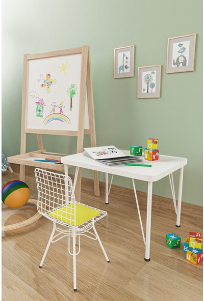 Evdemo Çocuk Masa Sandalye Takımı Sarı