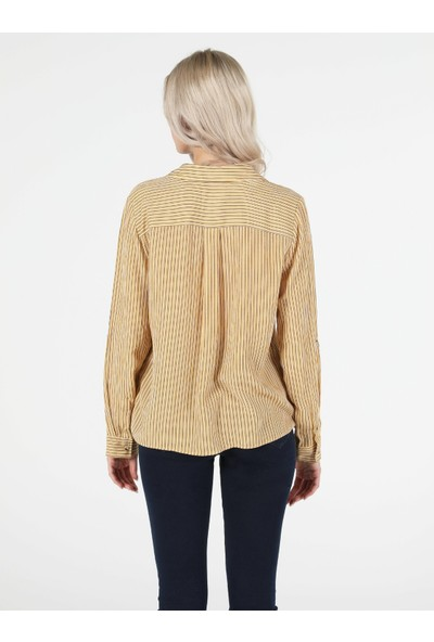 Colin's Sarı Kadın Gömlek U.kol
