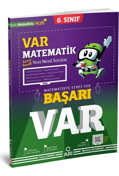 Arı Yayıncılık 6. Sınıf Var Matematik Yeni Nesil Soru Bankası