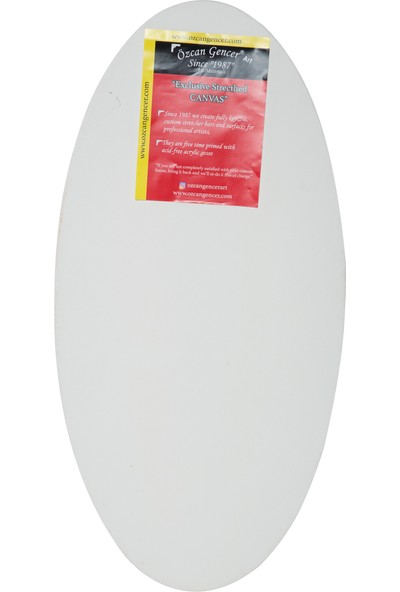 Özcan Gencer Art Tam Profesyonel Oval Tuval 80X50 cm
