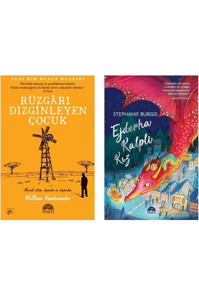 Ejderha Kalpli Kız + Rüzgarı Dizginleyen Çocuk 2 Kitap Set - Stephanie Burgis - William Kamkwamba