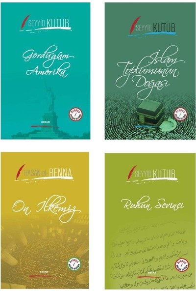 İki Dil Bir Kitap Arapça Türkçe Seyyid Kutub Serisi 4 Kitap - Seyyid Kutup