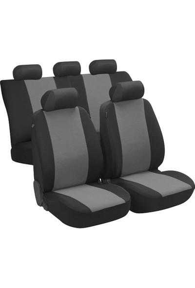 Fast Car Kangoo Oto Koltuk Kılıfı Arka 2+1 Koltuk Modeli Siyah Gri