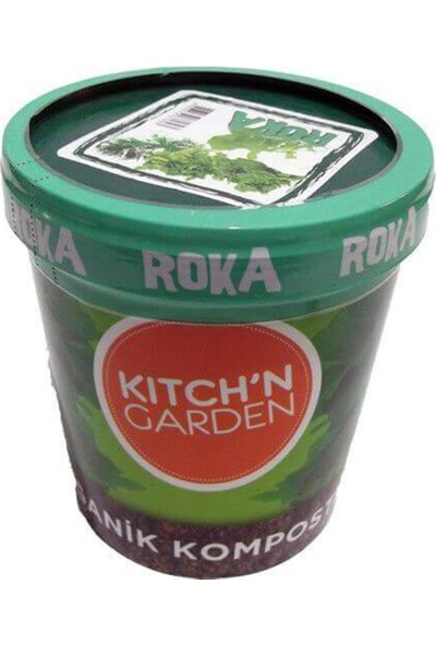 Kitch'n Garden Organik Roka Sebze Tohumu Sula Büyüt Set
