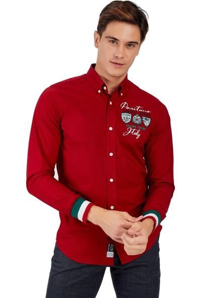 Galvanni Erkek Kırmızı Gömlek