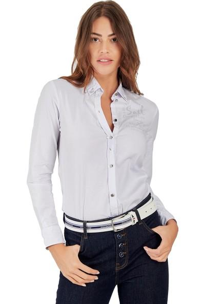 Galvanni Kadın Beyaz Gömlek