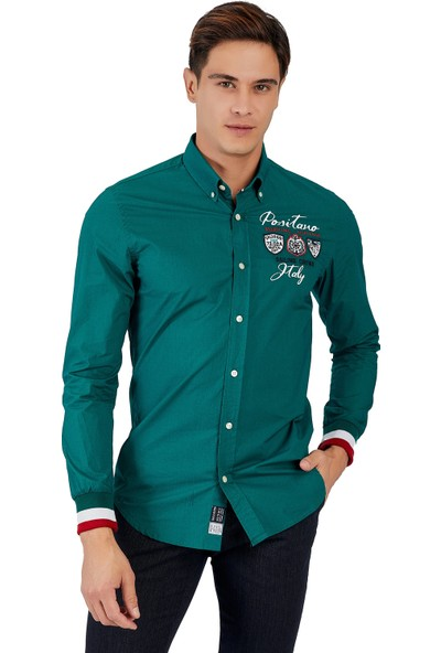 Galvanni Erkek Yeşil Gömlek