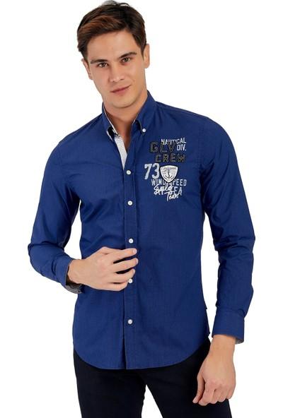 Galvanni Erkek Mavi Gömlek