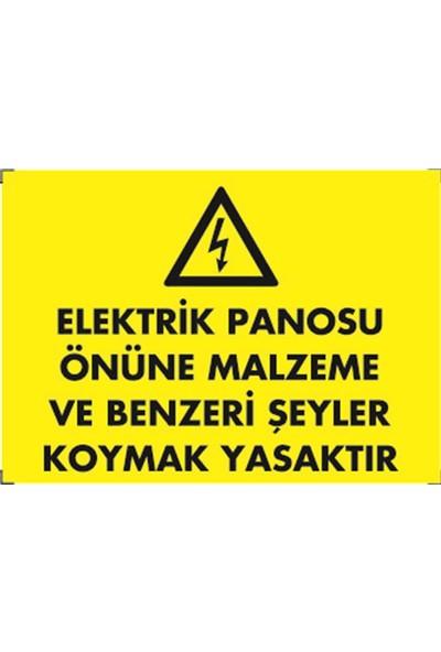 Dafne Elektrik Panosu Önüne Malzeme Vb. Şeyler Koymak Yasaktır
