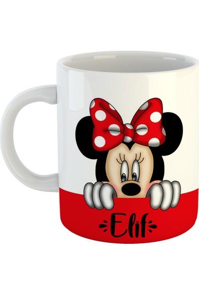 Dafhi Kişiye Özel Isimli Kupa - Minnie Mouse