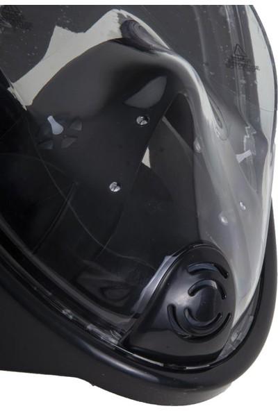 Grand Wolf Tam Yüz Şnorkel Maske Set Siyah (M2068G-SYH)