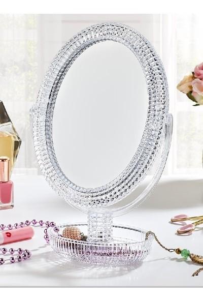 Demirel Desenli Çift Taraflı Makyaj Aynası