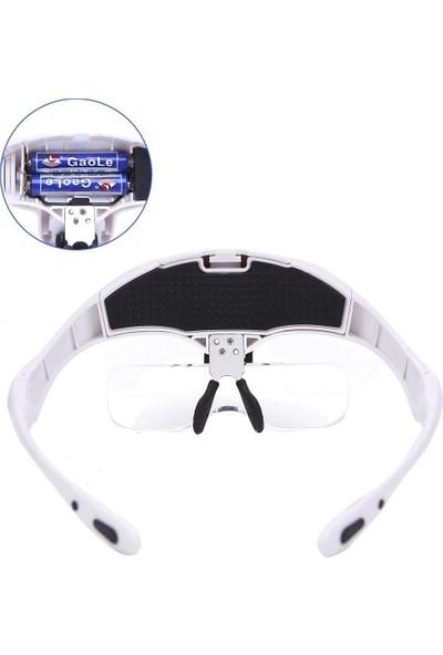 Bijia LED Lambalı 5 Lensli Gözlük Büyüteç