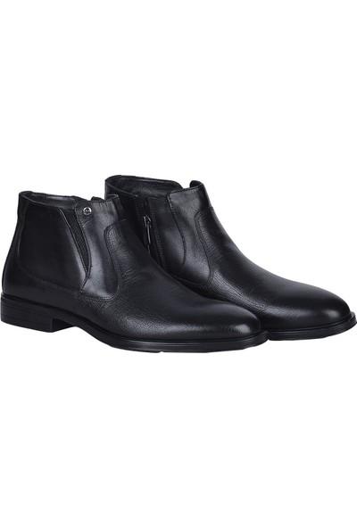 Pierre Cardin 1196063 Siyah Deri Erkek Klasik Bot Ayakkabı