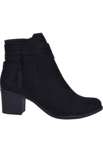 Byn Ayışığı Siyah 5,5cm Topuklu Kadın Bot Ayakkabı