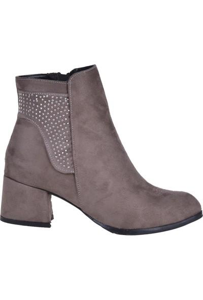 Byn Ayışığı 4911 Vizyon 5 cm Topuklu Kadın Bot Ayakkabı