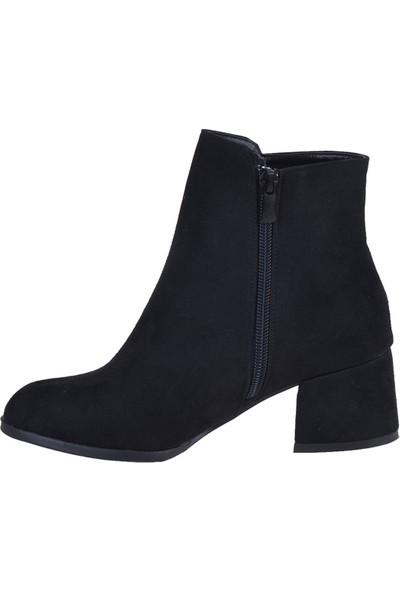 Byn Ayışığı 4911 Siyah 5 cm Topuklu Kadın Bot Ayakkabı