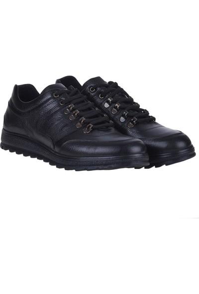 Dropland 5151 Siyah Deri Erkek Sneakers Spor Ayakkabı