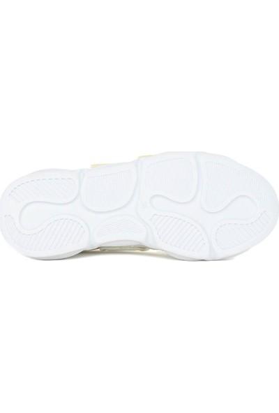 Otantik Cırtlı Zenne Cilt Casual Ayakkabı Beyaz