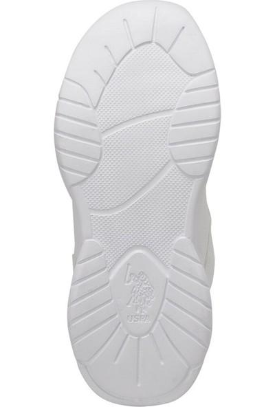 U.S. Polo Assn. Colby Beyaz Erkek Çocuk Sneaker Ayakkabı