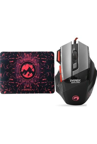 Everest Sgm-X7 Pro 7200DPI Makrolu Gaming Oyuncu Mouse + Mouse Pad