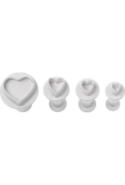 Hershey 4'lü Kalp Basmalı Kalıp