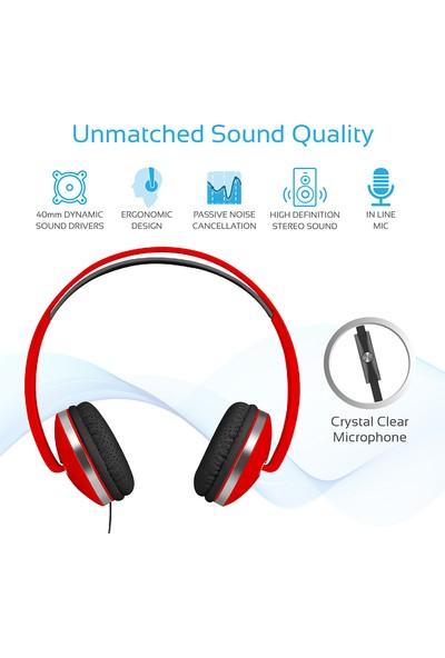 Promate Swing Kulaklık Kulaküstü Katlanır HD Hi-Fi Stereo Gürültü Önleyici Mikrofonlu