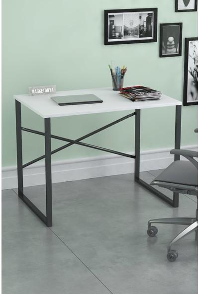 Marketonya 60x90 cm Çalışma Masası Bilgisayar Masası Ofis Masası Beyaz