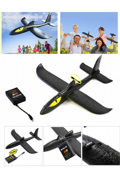 Xolo Siyah Panter Şarjlı Sünger Kırılmaz Uçak
