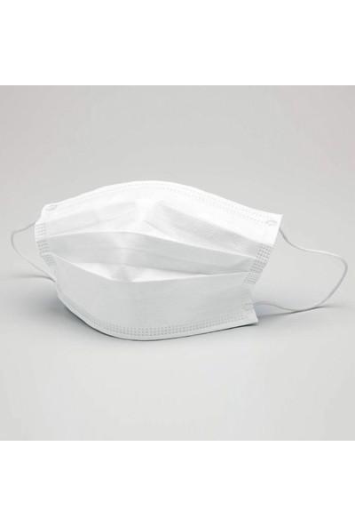 3nnn Beyaz Full Ultrasonic Telli Maske 10 Adet