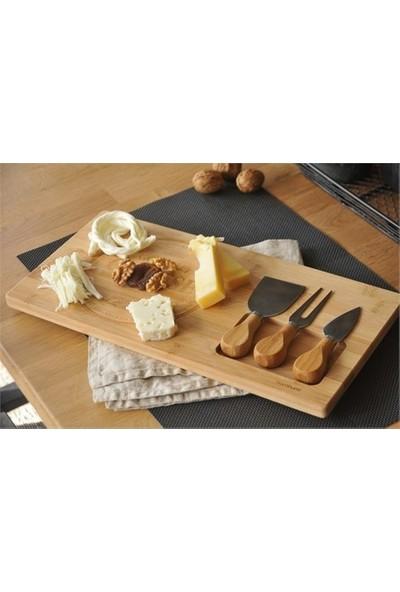Balsam Bambu 4 Parça Peynir Sunum Seti