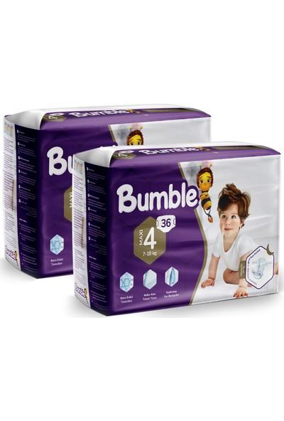 Bumble 4 Numara Maxi Bebek Bezi Ikiz Paket 36 x 2