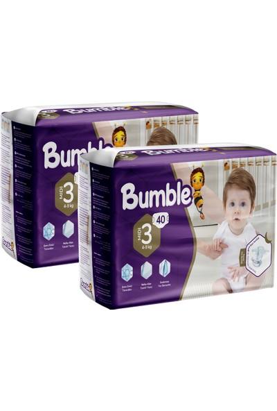 Bumble 3 Numara Midi Bebek Bezi Ikiz Paket 40 x 2