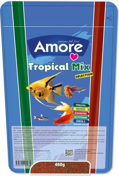 Amore Tropical Mix Selection Lepistes Moli Melek Tetrazon Plati Balık Yemi 460 gr