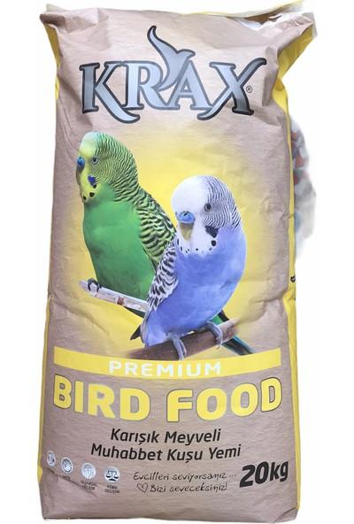 Krax Karışık Muhabbet Kuşu Yemi Ekmekli 20 kg
